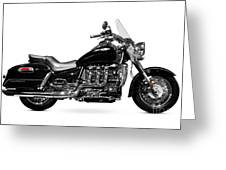 Triumph Rocket IIi Motorcycle Greeting Card