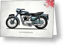 Triumph Thunderbird 1955 Greeting Card