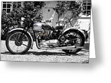 Triumph Tiger 100 1939 Greeting Card
