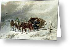 Troika In A Blizzard Greeting Card