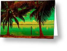 Tropic Nite Greeting Card