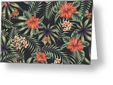 Tropical Leaf Pattern 5 Greeting Card