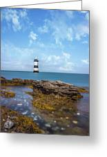 Trwyn Du Lighthouse Greeting Card