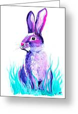 Turquoise And The Hare  Greeting Card