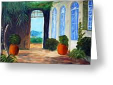 Tuscany Court Yard Greeting Card