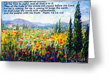 Tuscany Fields With Scripture Greeting Card