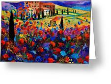 Tuscany Poppies  Greeting Card