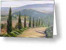 Tuscany Road Greeting Card