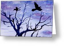 Twilight Flight Greeting Card