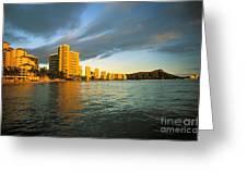 Twilight Waikiki Greeting Card