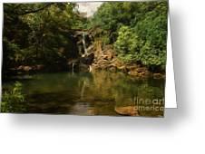 Twin Falls Pool Greeting Card