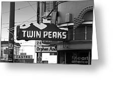 1 Twin Peaks Bar In San Francisco Greeting Card by Wingsdomain Art and Photography