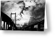 Two Bridges One Moon Greeting Card