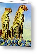Two Cheetahs Greeting Card
