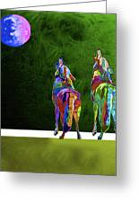 Two Coyote By Nixo Greeting Card
