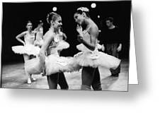 Two Dancers Chat Greeting Card