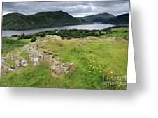 Ullswater Lake From Gowbarrow Fell, Lake District Greeting Card