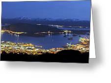 Ulsteinvik By Night Greeting Card