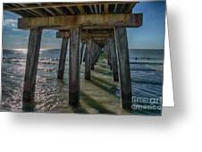 Under The Naples Pier Greeting Card