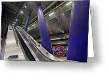 Underground Escalator Greeting Card