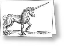 Unicorn, 1607 Greeting Card