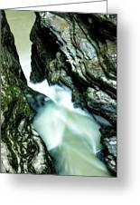 Up The Down Waterfall Greeting Card