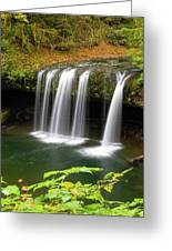 Upper Butte Creek Falls In Autumn Greeting Card