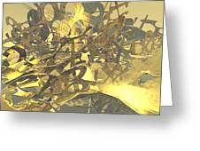 Urban Gold Greeting Card