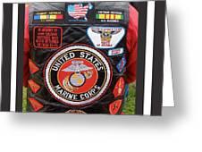 Us Marine Corps Viet Nam Veteran Peart Park Casa Grande Arizona 2005 Greeting Card