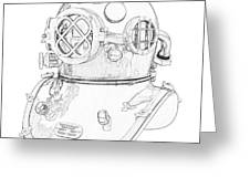 Us Navy Diving Helmet Mark V Greeting Card