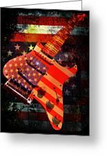 Usa Strat Guitar Music Greeting Card