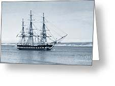 Uss Constitution Old Ironsides In Monterey Bay Oct. 1933 Greeting Card