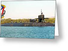 Uss Ohio Greeting Card