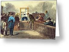 Va: Freedmens Bureau 1866 Greeting Card