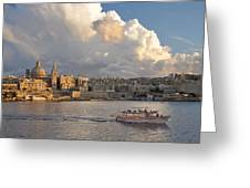 Valetta Skyline, Malta. Greeting Card