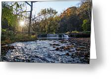 Valley Creek Waterfall - Valley Forge Pa Greeting Card
