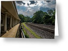 Valley Forge Train Station  Greeting Card