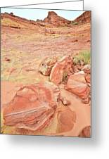 Valley Of Fire's Wash 3 Greeting Card