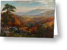 Valley Of The Catawissa In Autumn Greeting Card