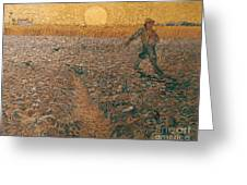 Van Gogh: Sower, 1888 Greeting Card