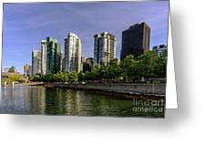 Waterfront Of Vancouver, Canada Greeting Card