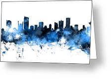 Vancouver Canada Skyline Panoramic Greeting Card