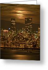 Vancouver's Supermoon Greeting Card