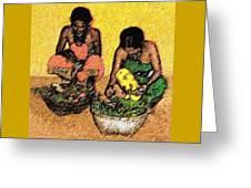 Vegetable Sellers Greeting Card