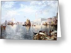 Venetian Grand Canal Greeting Card by Thomas Moran