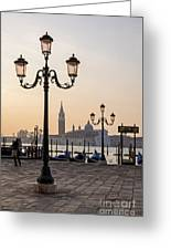 Venice At Sunset Greeting Card