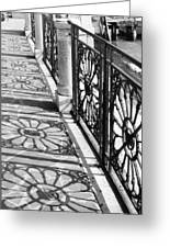 Venice Fence Shadows Greeting Card