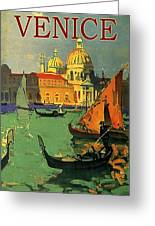 Venice, Italy, Gondolas Greeting Card