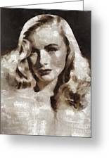 Veronica Lake Vintage Hollywood Actress Greeting Card