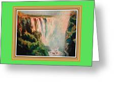 Victoria Waterfalls L B With Alt. Decorative Ornate Printed Frame. Greeting Card